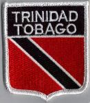 Trinidad & Tobago Embroidered Flag Patch, style 06.